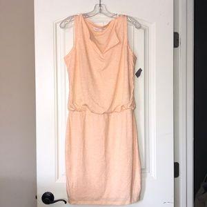 Athleta Coral Linen Blend Vita Dress
